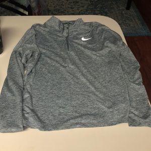 NWOT Gray Nike Running Quarter Zip XL